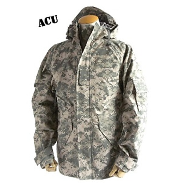 アメリカ軍 ECWC S-1ジャケット/ゴアテックス風パーカー  Sサイズ  透湿防水素材 JP041YN ACU カモ( 迷彩)  レプリカ