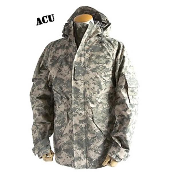 アメリカ軍 ECWC S-1ジャケット/ゴアテックス風パーカー  Lサイズ  透湿防水素材 JP041YN ACU カモ( 迷彩)  レプリカ