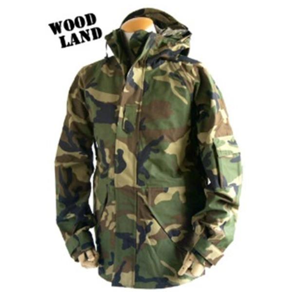 アメリカ軍 ECWC S-1ジャケット/ゴアテックス風パーカー  XSサイズ  透湿防水素材 JP041YN ウッドランド カモ/迷彩  レプリカ