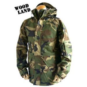 アメリカ軍 ECWC S-1ジャケット/ゴアテックス風パーカー 【 Sサイズ 】 透湿防水素材 JP041YN ウッドランド カモ( 迷彩) 【 レプリカ 】