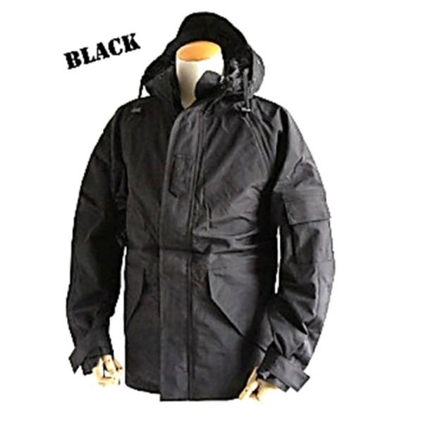 アメリカ軍 ECWC S-1ジャケット/ゴアテックス風パーカー  Mサイズ  透湿防水素材 JP041YN ブラック  レプリカ