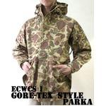 アメリカ軍 ECWC S-1ジャケット/ゴアテックス風パーカー 【 Sサイズ 】 透湿防水素材 JP041YN ダックハンター 【 レプリカ 】
