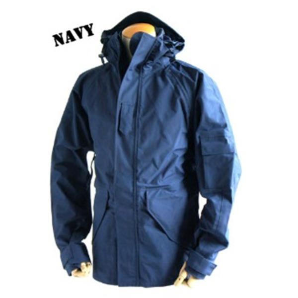 アメリカ軍 ECWC S-1ジャケット/ゴアテックス風パーカー  Lサイズ  透湿防水素材 JP041YN ネイビー  レプリカ