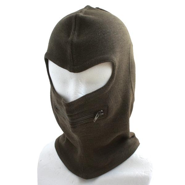 イタリア軍放出 バラクラバ目出し帽 ウール HC049NN ブラウン  デットストック   未使用