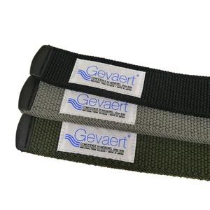 ストレッチベルト GEVAERT(ゲバルト) 長さ120cm 穴なし/カット可 ポリアセタール製バッグル使用 PGVT-1050 ブラック