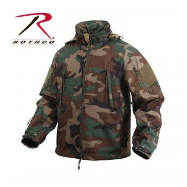 ROTHCO(ロスコ) スペシャルOP S タクティカルソフトシェルジャケット ROGT9745 ウッドランド カモ L