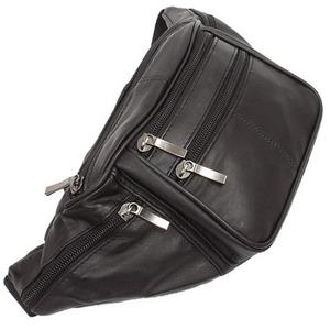 羊革+合皮ウェスト&ボディー2WAYバッグ IK1101 ブラック