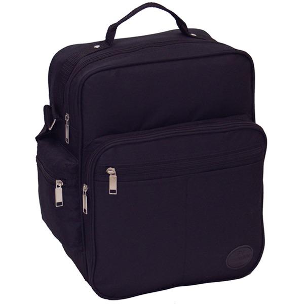 マチが広いのでA4サイズ書類 弁当箱などが 楽々入るビジネスバッグ IK8110 ブラックf00
