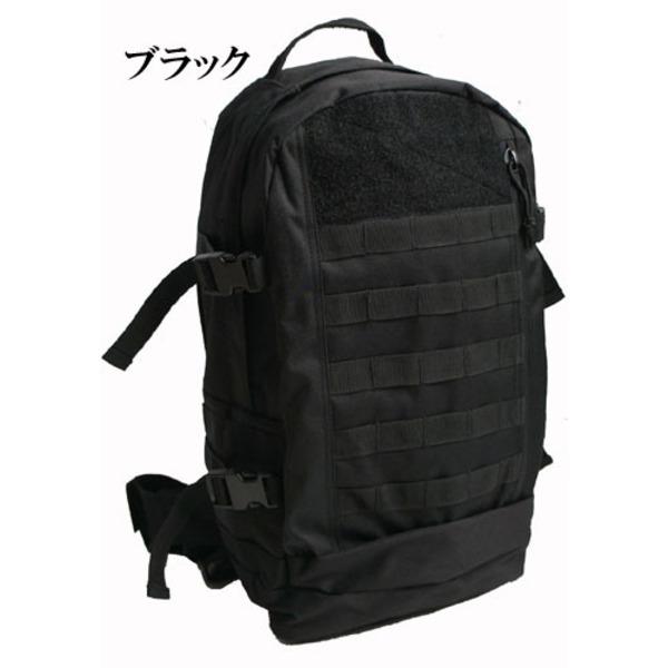 米軍 モール対応防水布使用アサルトリュックサック BR051YN ブラック  レプリカ