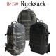 米軍 モール対応防水布使用アサルトリュックサック BR051YN ブラック 【 レプリカ 】  - 縮小画像2