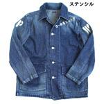 アメリカ軍 40'S デニムジャケット/ワークジャケット【36/Sサイズ】 ステンシル JJ140YP【レプリカ】
