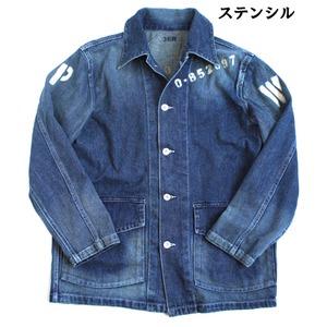 アメリカ軍 40'S デニムジャケット/ワークジャケット【38/Mサイズ】 ステンシル JJ140YP【レプリカ】