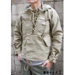 アメリカ海軍 ウェットウェザーパーカー/ジャケット 【 Sサイズ 】 綿100% JP050YN カーキ 【 レプリカ 】