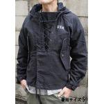アメリカ海軍 ウェットウェザーパーカー/ジャケット 【 XLサイズ 】 綿100% JP050YN ブラック 【 レプリカ 】