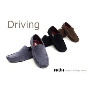 FRUH スエード調ドライビングシューズ G L4003 ブラック #43(26.5cm)