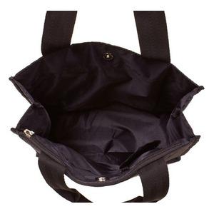 軽量・ナイロン素材のキルティング縦型手提げバッグ IK4551 クロ h03
