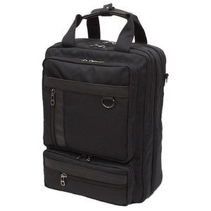 B-conビジネスシリーズ 3WAYバッグ 縦型 IK125 クロ h01