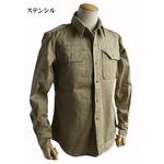 USタイプ M46 コットンカーキシャツ ワンウォッシュ ステンシル L 【 レプリカ 】