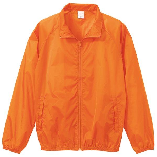 花粉対策フッ素撥水加工 ウインドブレーカー ブルゾン CB7064 オレンジ XLサイズf00