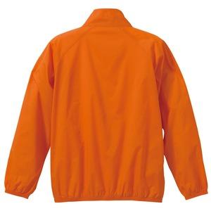 花粉対策フッ素撥水加工 ウインドブレーカー ブルゾン CB7064 オレンジ XLサイズ f05