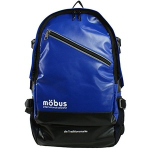 mobus 防水生地PCポケット完備多収納バックパック MBX506 ブルー/ブラック