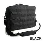 アメリカ軍 2WAYショルダーバッグ/鞄【モール/A4対応】 ナイロンキャンバス地 防水加工 BS076YN ブラック(黒)【レプリカ】