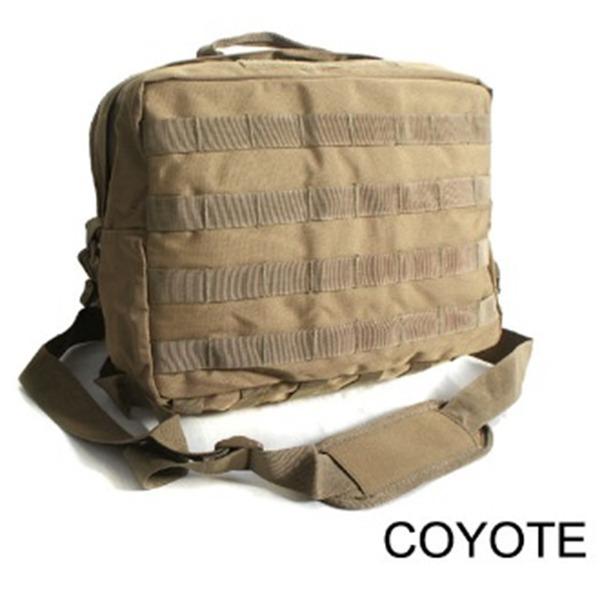 アメリカ軍 2WAYショルダーバッグ鞄モールA4対応 ナイロンキャンバス地 防水加工 BS076YN コヨーテブラウンレプリカ