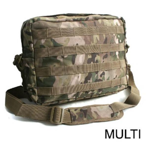 アメリカ軍 2WAYショルダーバッグ鞄モールA4対応 ナイロンキャンバス地 防水加工 BS076YN マルチカモレプリカ