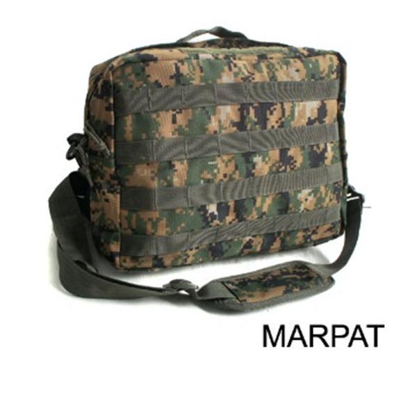 アメリカ軍 2WAYショルダーバッグ鞄モールA4対応 ナイロンキャンバス地 防水加工 BS076YN MARPATウッドレプリカ