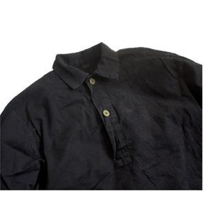 スウェーデン軍放出 M55シャツ 後染めリメイク JS027UD ブラック 39サイズ 【中古】
