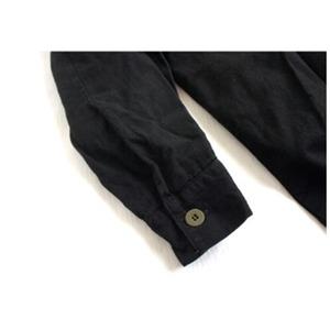 スウェーデン軍放出 M55シャツ 後染めリメイク J S027UD ブラック 41サイズ 【中古】