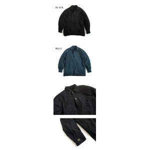 スウェーデン軍放出 M55シャツ 後染めリメイク J S027UD ブルー 39サイズ 【中古】