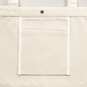 帆布製綿キャンパスコットンスイッチングトートバッグ 2WAY CB1490 ナチュラル/ブラック h02