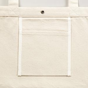 帆布製綿キャンパスコットンスイッチングトートバッグ 2WAY CB1490 ネイビー/ブラック-2