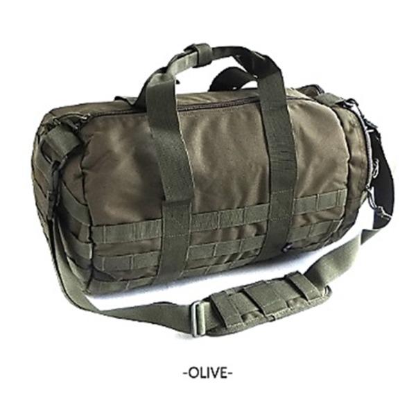 アメリカ軍 ボストンバッグ/鞄  2WAY  モール対応/ウレタン素材入り BH054YN オリーブ  レプリカ