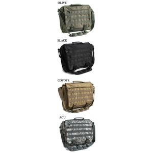 アメリカ軍 ショルダーバッグ/鞄 【 2WAY 】 モール対応/ウレタン素材入り B S088YN ブラック 【 レプリカ 】  - 拡大画像