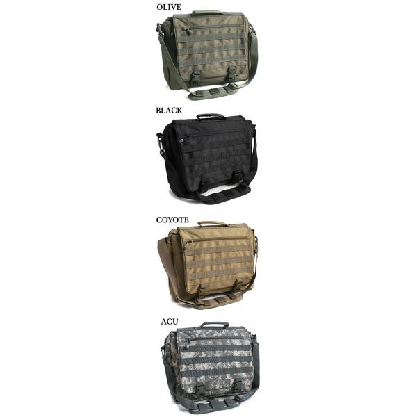 アメリカ軍 ショルダーバッグ/鞄  2WAY  モール対応/ウレタン素材入り B S088YN ブラック  レプリカ