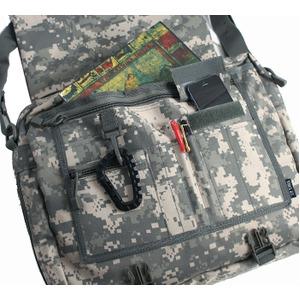 アメリカ軍 ショルダーバッグ/鞄 【 2WAY 】 モール対応/ウレタン素材入り B S088YN ブラック 【 レプリカ 】