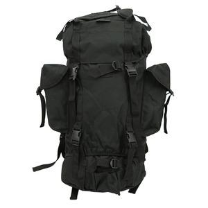 ジャーマンタイプ防水布使用75リッター リュックサック ブラック