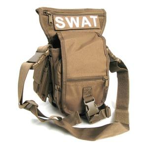 U. S.・ SWAT・レッグポーチ ・ショルダー・2WAYバッグ レプリカ ブラック