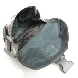 モール対応防水布使用ウェストポーチ ブラック
