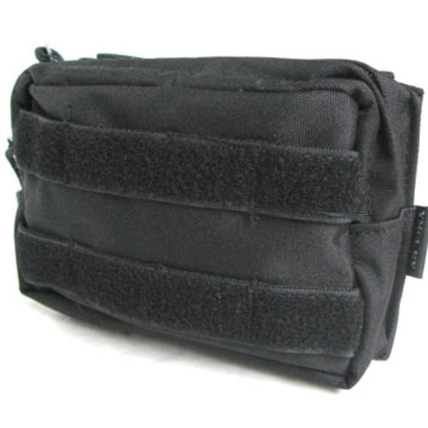 モール対応防水布使用 ウェストポーチ ブラックf00
