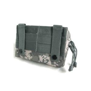 モール対応防水布使用 ウェストポーチ ブラック h02