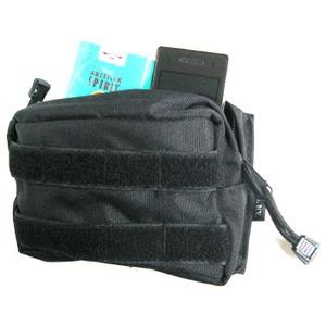 モール対応防水布使用 ウェストポーチ ブラック h03