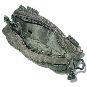 モール対応防水布使用 ウェストポーチ ブラック f04