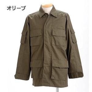 アメリカ軍 BDUジャケット/迷彩ジャケット 【 Lサイズ 】 JB001YN オリーブ 【 レプリカ 】