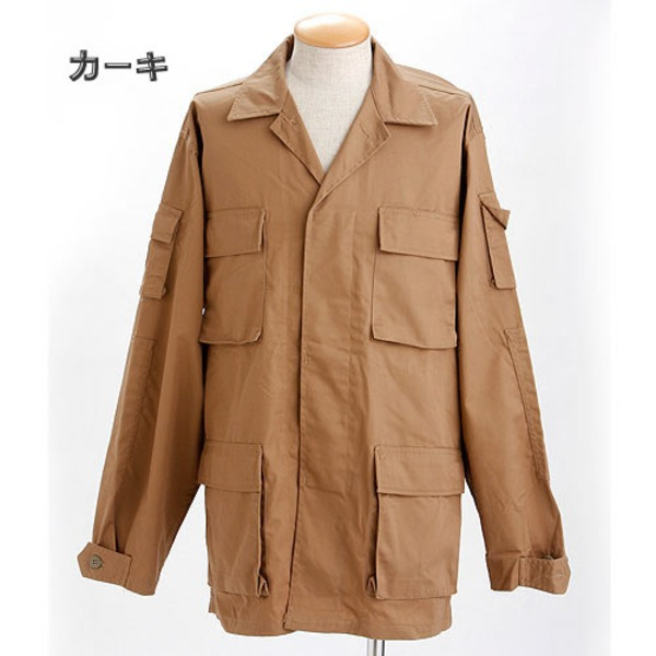 アメリカ軍 BDUジャケット/迷彩ジャケット  Sサイズ  JB003YN カーキ  レプリカ