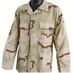 アメリカ軍 BDUジャケット/迷彩ジャケット 【 Mサイズ 】 JB001YN リップストップ 3カラーデザート 【 レプリカ 】