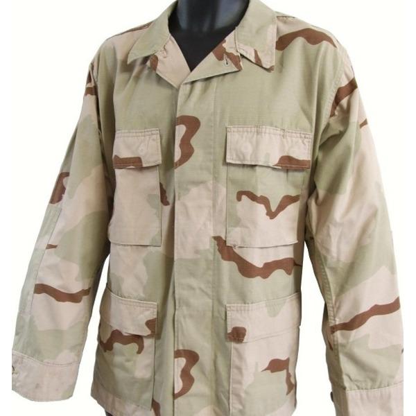 アメリカ軍 BDUジャケット/迷彩ジャケット  Lサイズ  JB001YN リップストップ 3カラーデザート  レプリカ