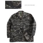 アメリカ軍 BDUジャケット/迷彩ジャケット 【 Mサイズ 】 JB001YN リップストップ ブラック タイガー 【 レプリカ 】